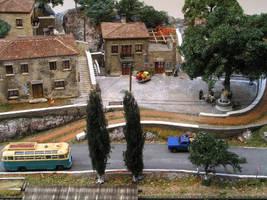 Greek village diorama by thecarcass
