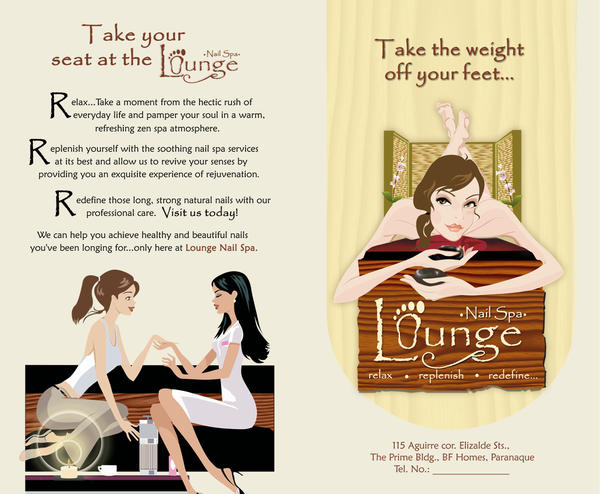 A Spa Brochure Front By Margewhitty On Deviantart