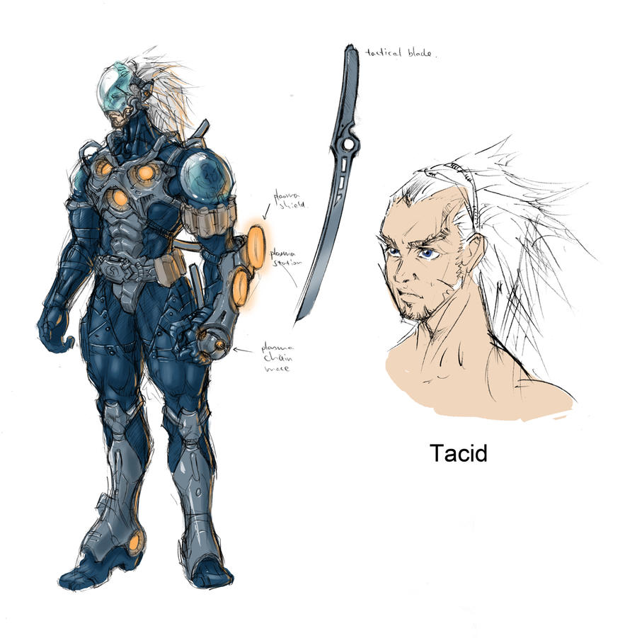 Game Design Character Artist : Cyber ninja character design by tianyi on deviantart