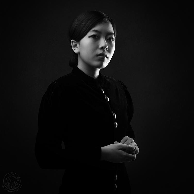 lady in black by mokskalashnikov