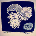 Inktober day 2: Cap'n Cuttlefish (Splatoon)