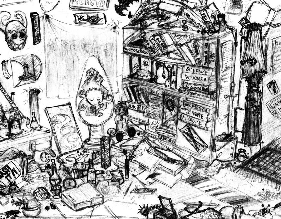 Messy Bedroom Drawing Messy Room By Psychoafro