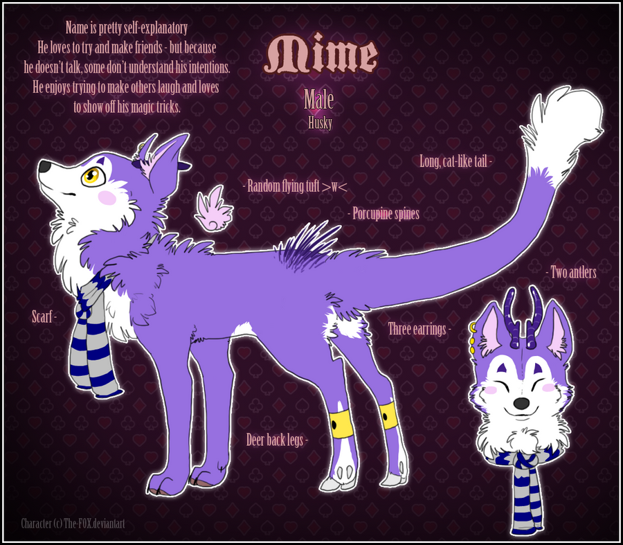 : Mime Reference Sheet : by The-F0X