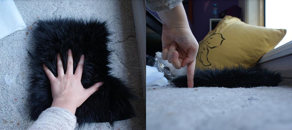Long Black Fur by The-F0X