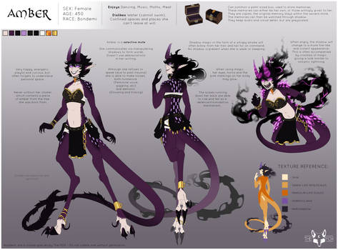 Amber Updated Reference Sheet - 2019
