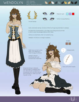 Wendolyn Updated Reference Sheet - 2019
