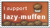 lazy-muffen stamp by Locou