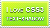 I love CSS3 text-shadow by Locou