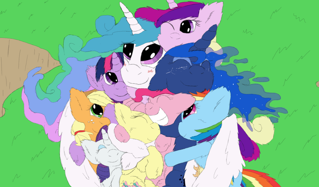 Cuddle puddle for Royalty (colored) by Billblok