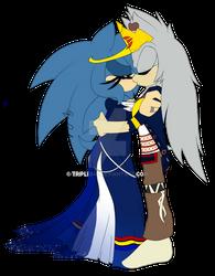 King Spirit and Queen Skai Kissing
