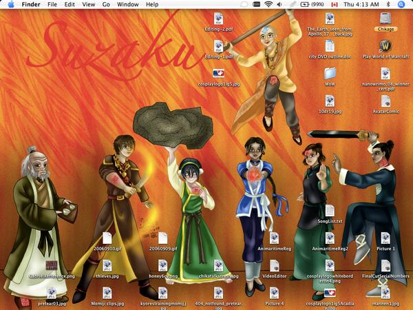 Suzaku no Avatar Desktop by AniDragon