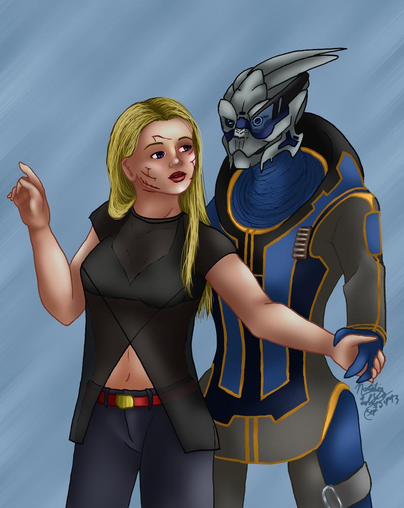 Mass Effect - Shakarian - Citadel Date by AniDragon