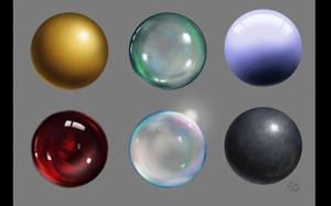 Balls of material 01