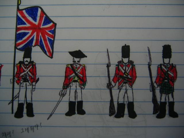 how to draw a british soldier