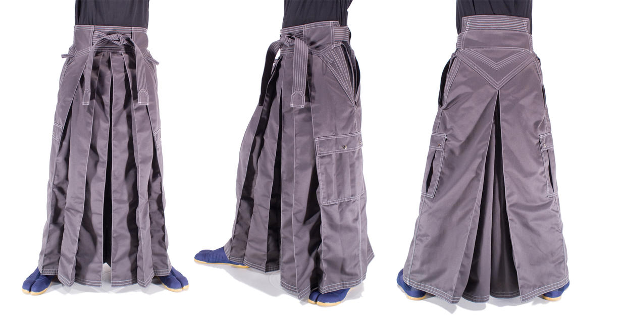 Grey Cargo Twill Hakama by Lastwear
