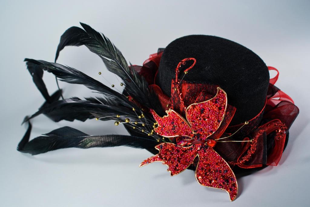 ae044a68ab50d Dark Butterfly Mini top hat by Lastwear on DeviantArt