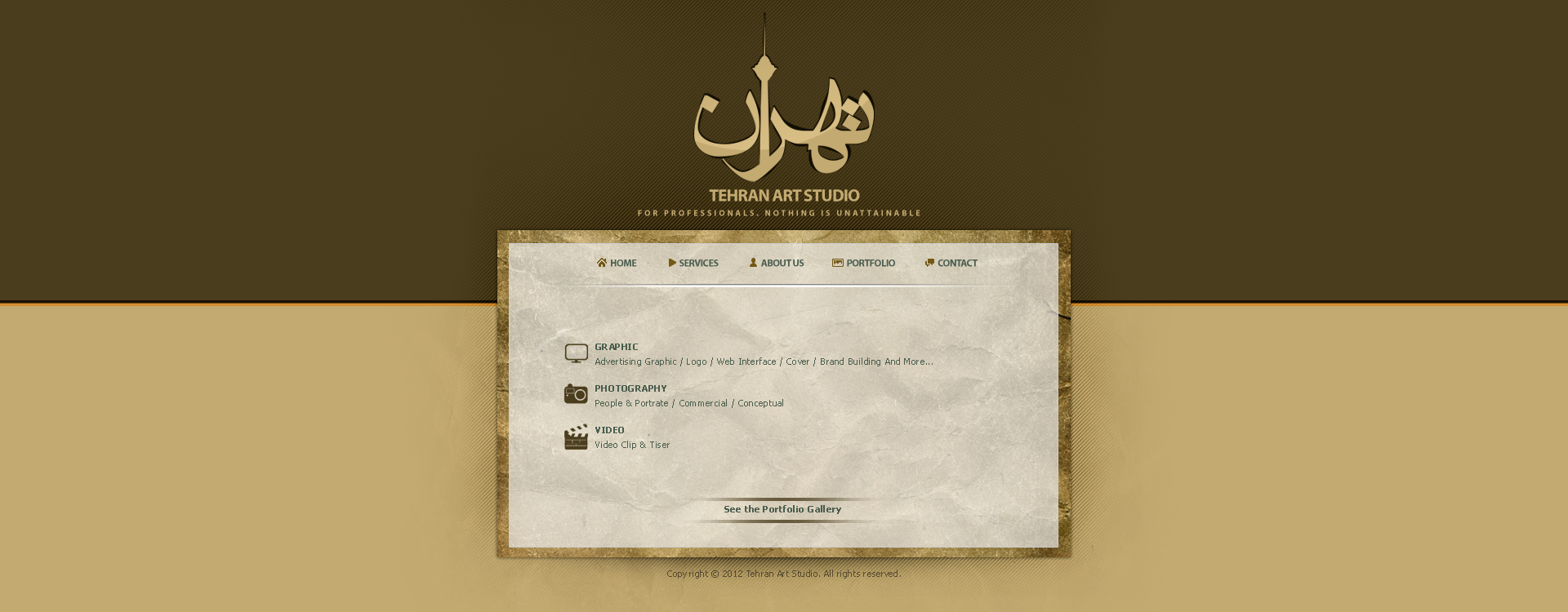 Tehran Art Studio Website by Mojtaba-Sharif