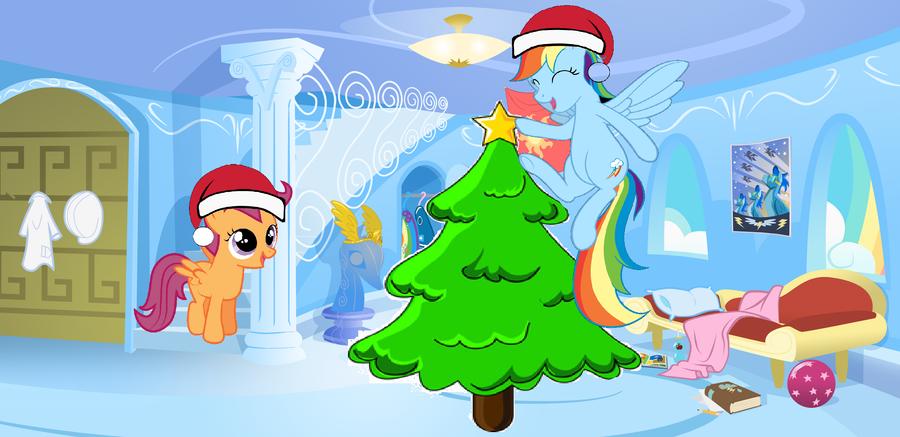 Rainbow Dash Christmas by Silverthehedgehog183 on DeviantArt
