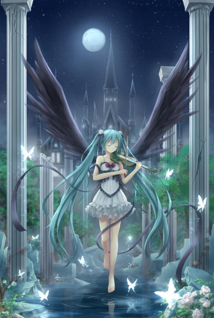 Hatsune Miku :: Requiem Noir by AsakuraShinji