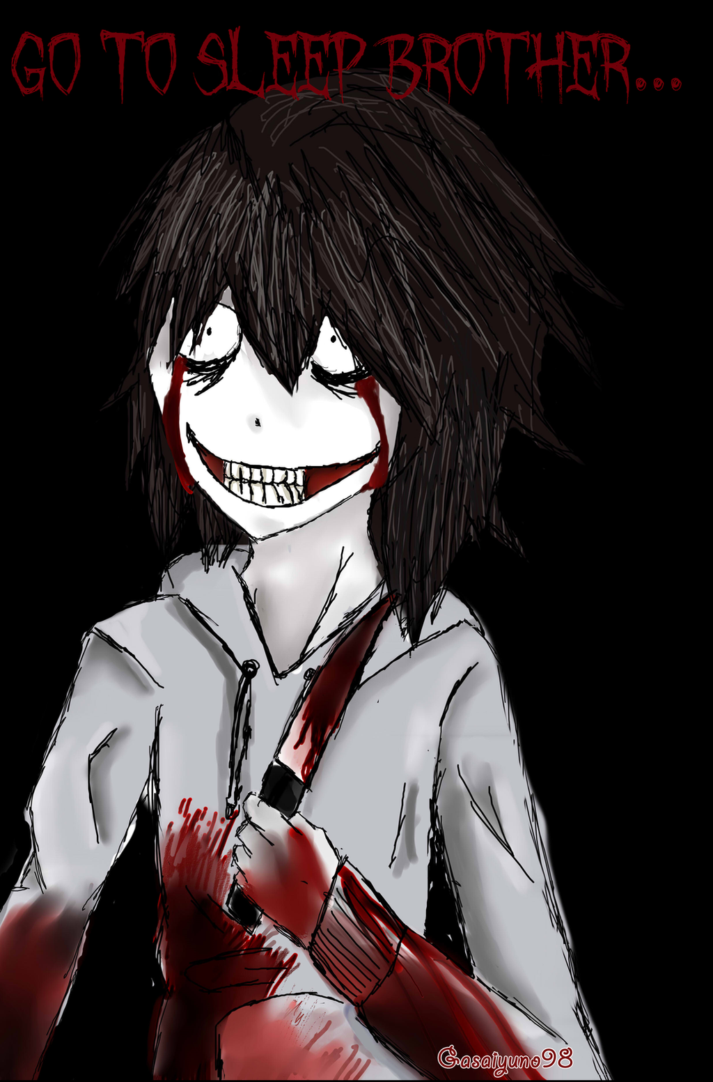Gambar Jeff The Killer Anime