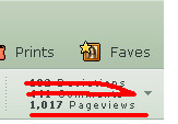 over 1000 pageviews :D by Windwakerwolf