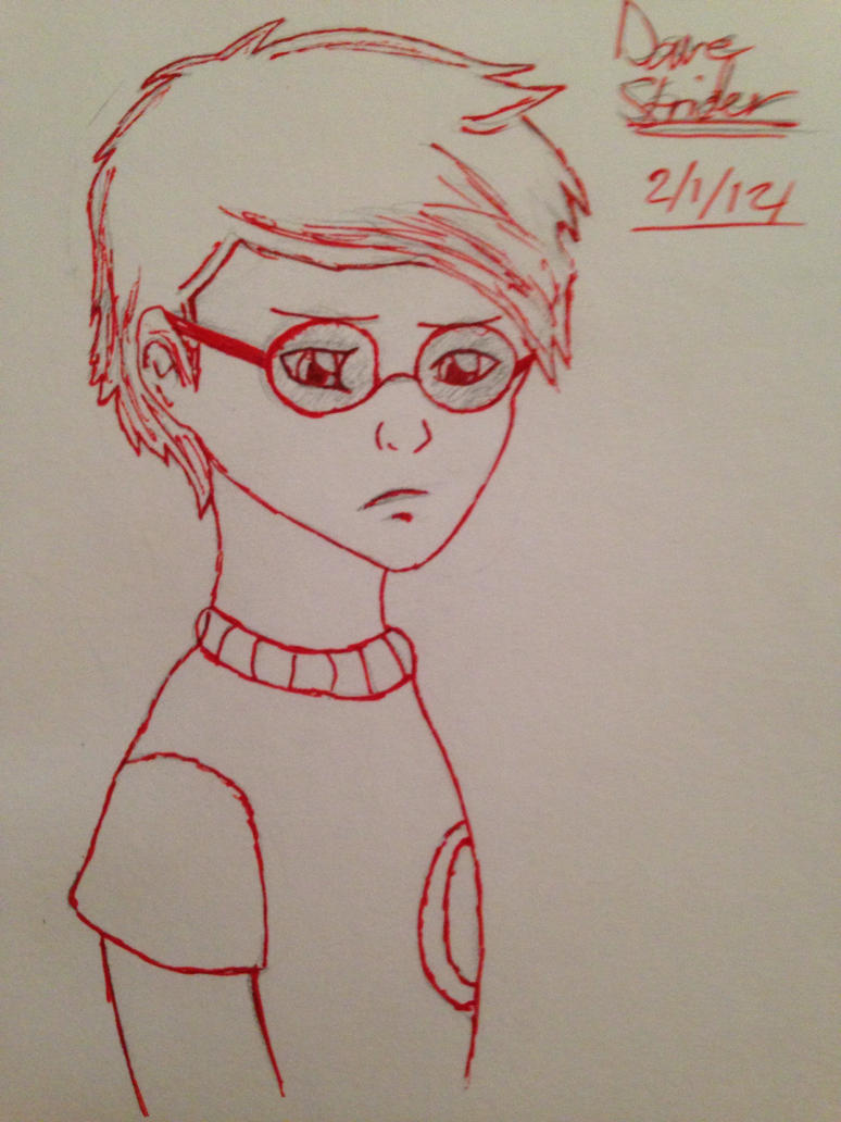 Draw Homestuck: Dave Strider by artgamerforever
