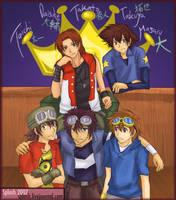 Digimon 10th Anniversary by splashgottaito