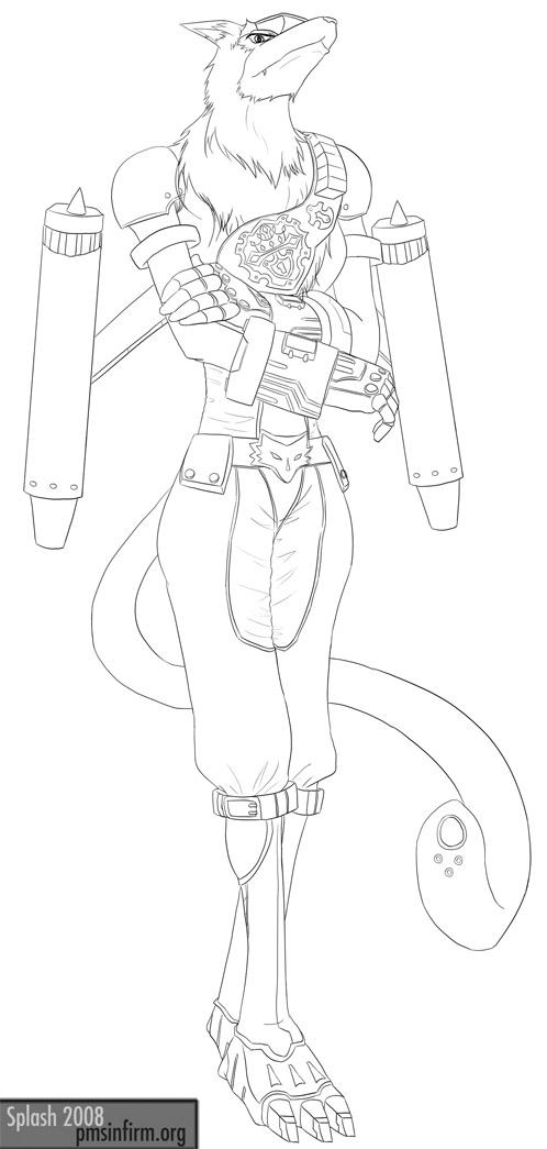 Digimon - Female MachGaogamon by splashgottaito