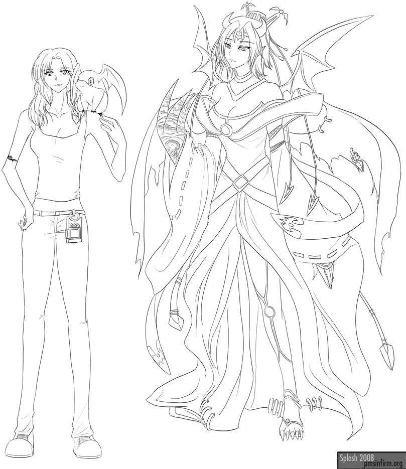 Faith + Lilithmon Tsukaimon by splashgottaito