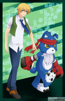 Digimon Savers - TohmaGaomonv2 by splashgottaito