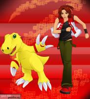 Digimon Savers - MasaruAgumon by splashgottaito