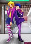 Digimon Ad02 - Sora and Miyako by splashgottaito