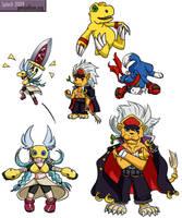Digimon Savers - Moar Chibis by splashgottaito