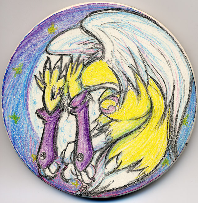 Digimon - Renamon Coaster by splashgottaito
