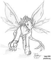Commission - SaberGreymon by splashgottaito