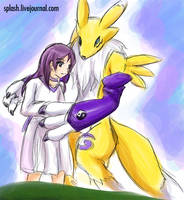 Digimon Savers AM Yuma Renamon by splashgottaito