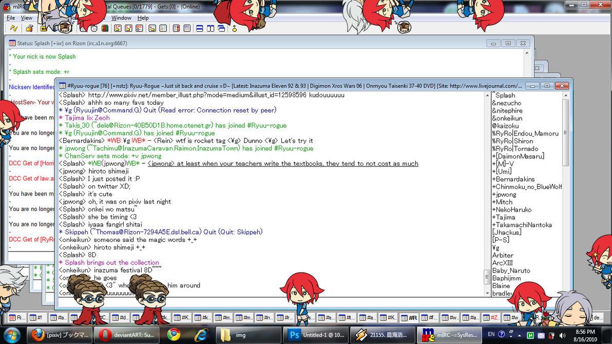 Laptop 8-16-10 Inazuma Shimeji by splashgottaito