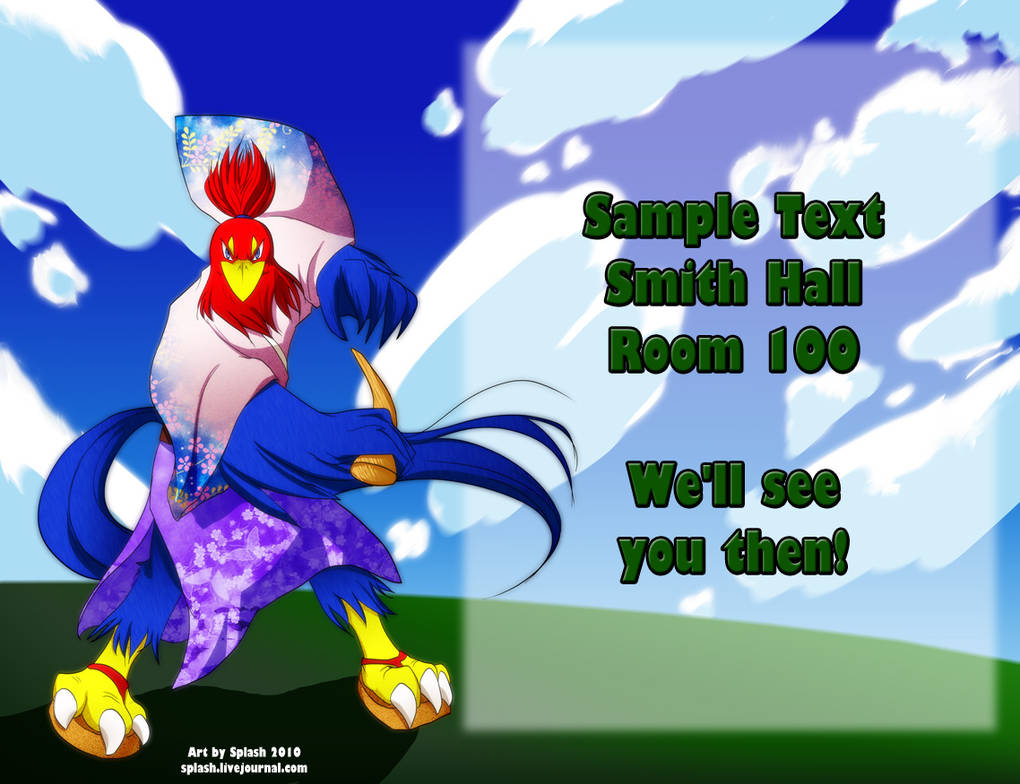 Commission - KU Anime Club by splashgottaito