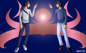 Digimon Frontier - Kou Twins by splashgottaito