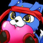 Digimon Savers Emoji Gaomon heart