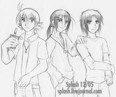 Digimon Frontier Trio sketch by splashgottaito