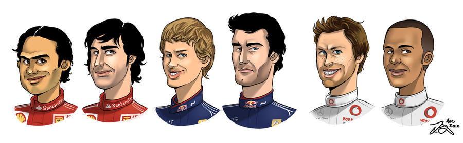 F1 drivers 2010, part 1 by xelanelho