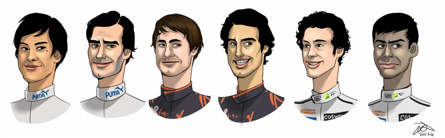 F1 drivers 2010, part 4 by forskuggad