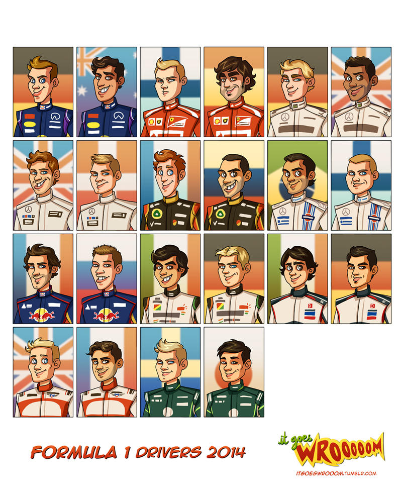 Formula 1 Drivers 2014 by xelanelho