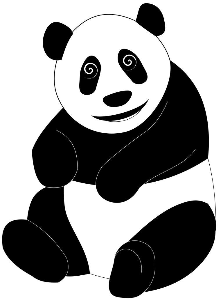 Cartoon Panda for Pinterest