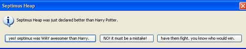 Septimus Heap vs. Harry Potter by oboebandgeek99