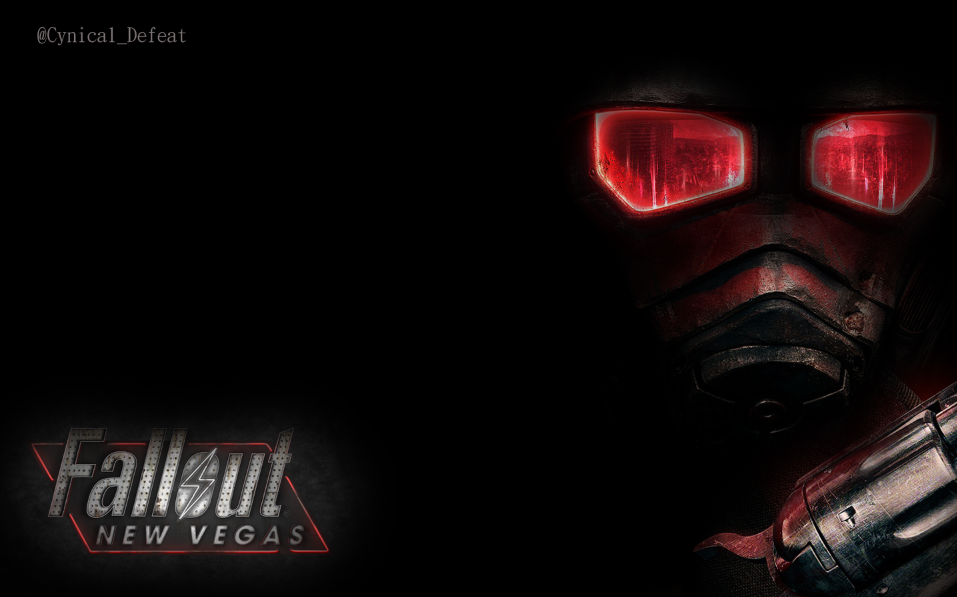 simple fallout new vegas wallpaper by cynicaldefeat on