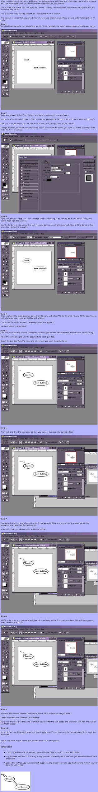 Photoshop Text-bubble Tutorial by dragonmun