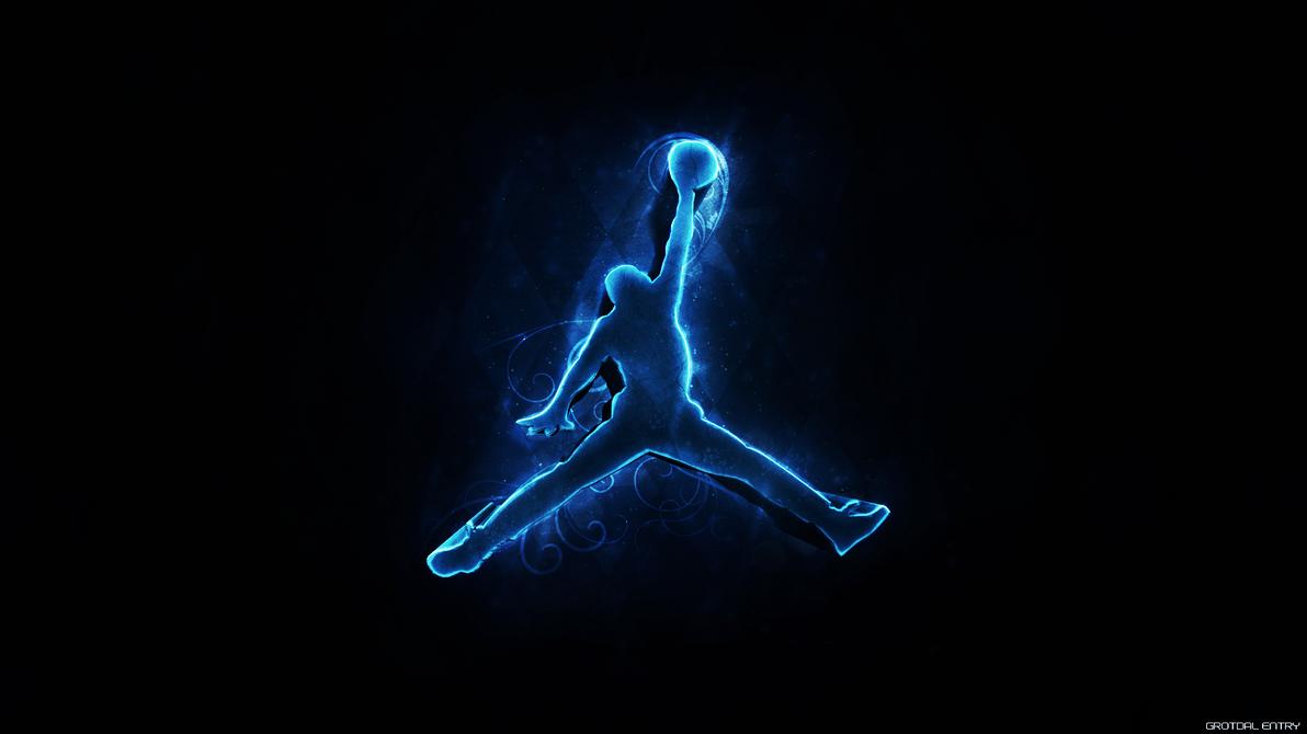 blue air jordan logo