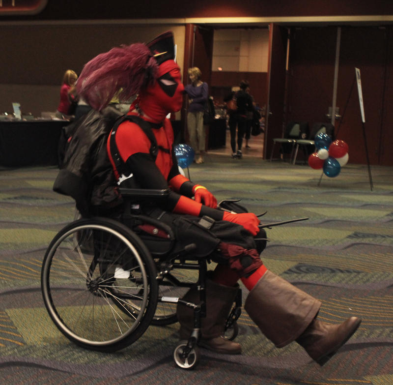 MegaCon 2012 - Wheelchair Deadpool 2 by Purph
